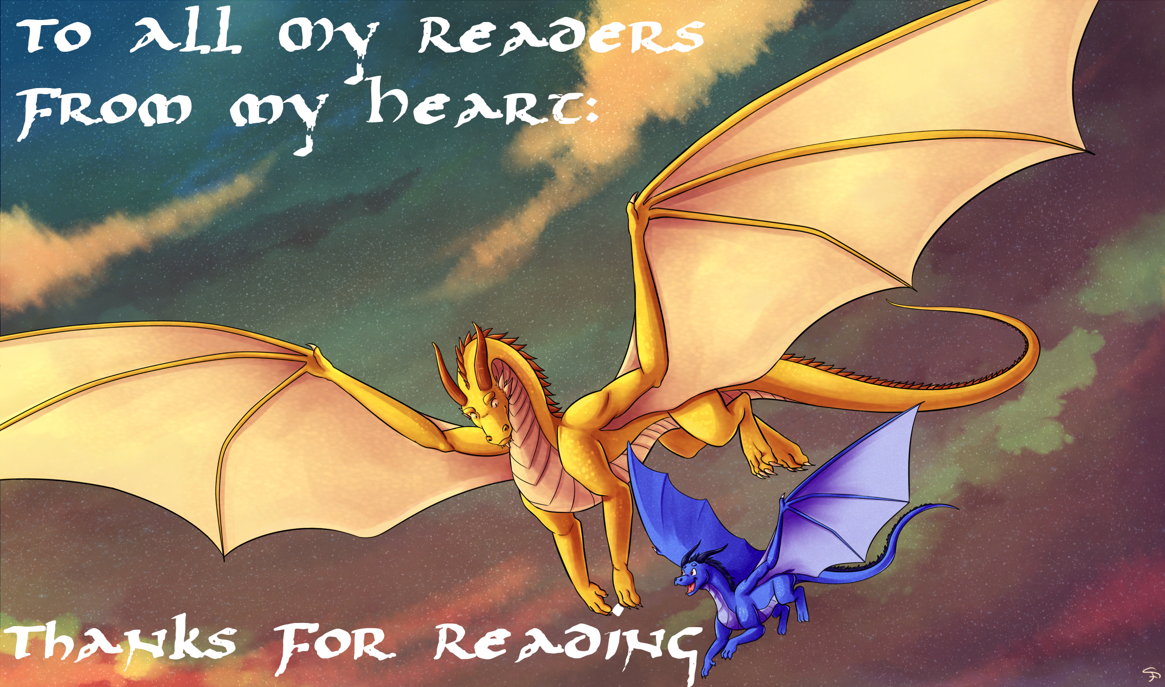 To All My Readers, From My Heart: Thanks For Reading!